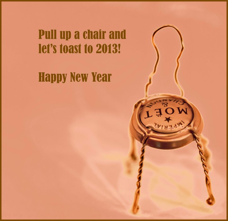 new years eve champagne cap recycled