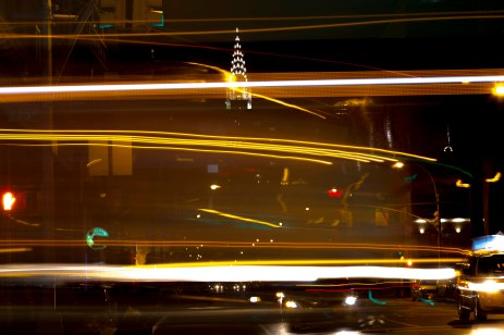 chrysler building long exposure